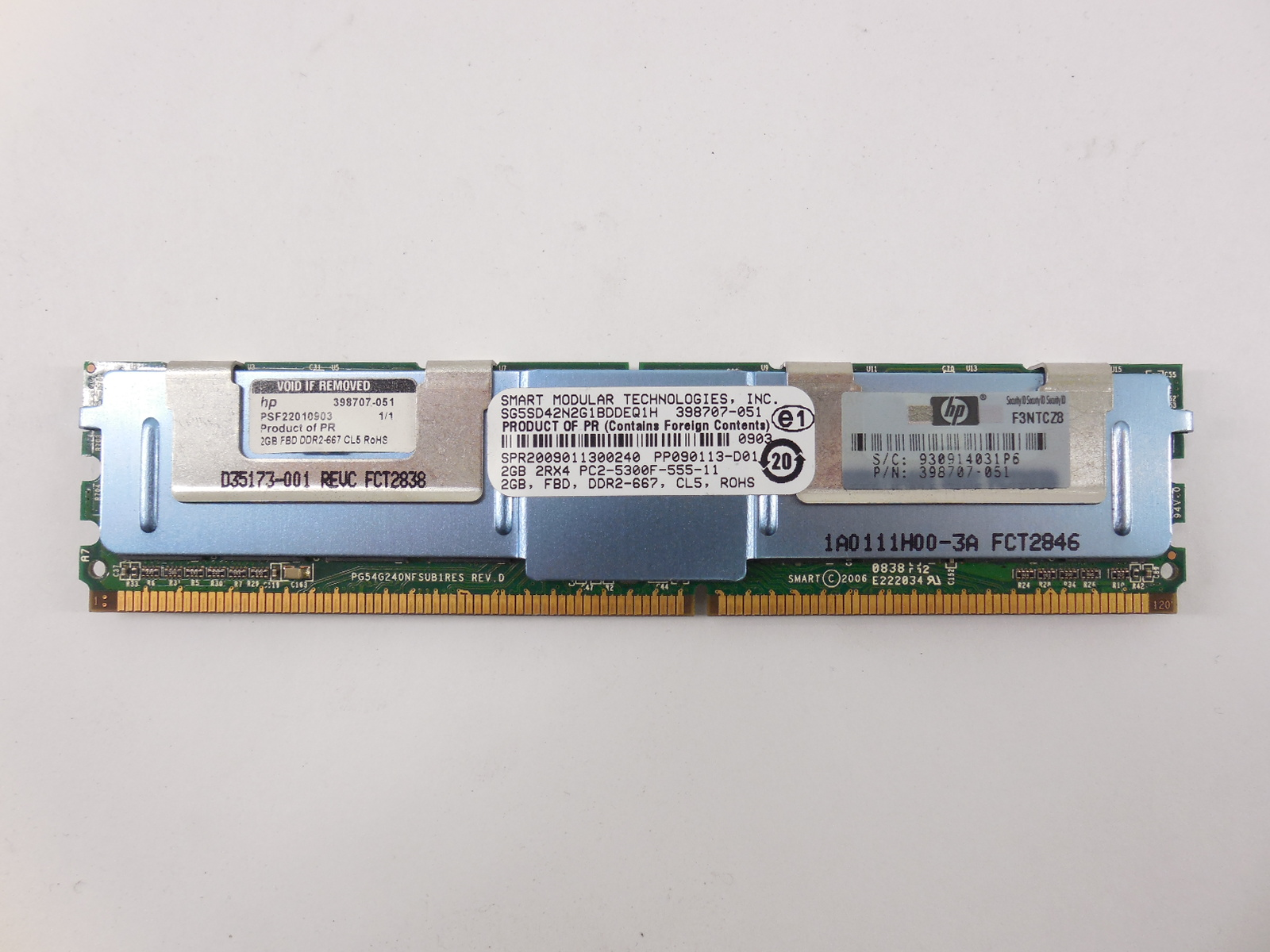 Модуль памяти Smart FB-DIMM DDR2 2Gb  - Pic n 261050