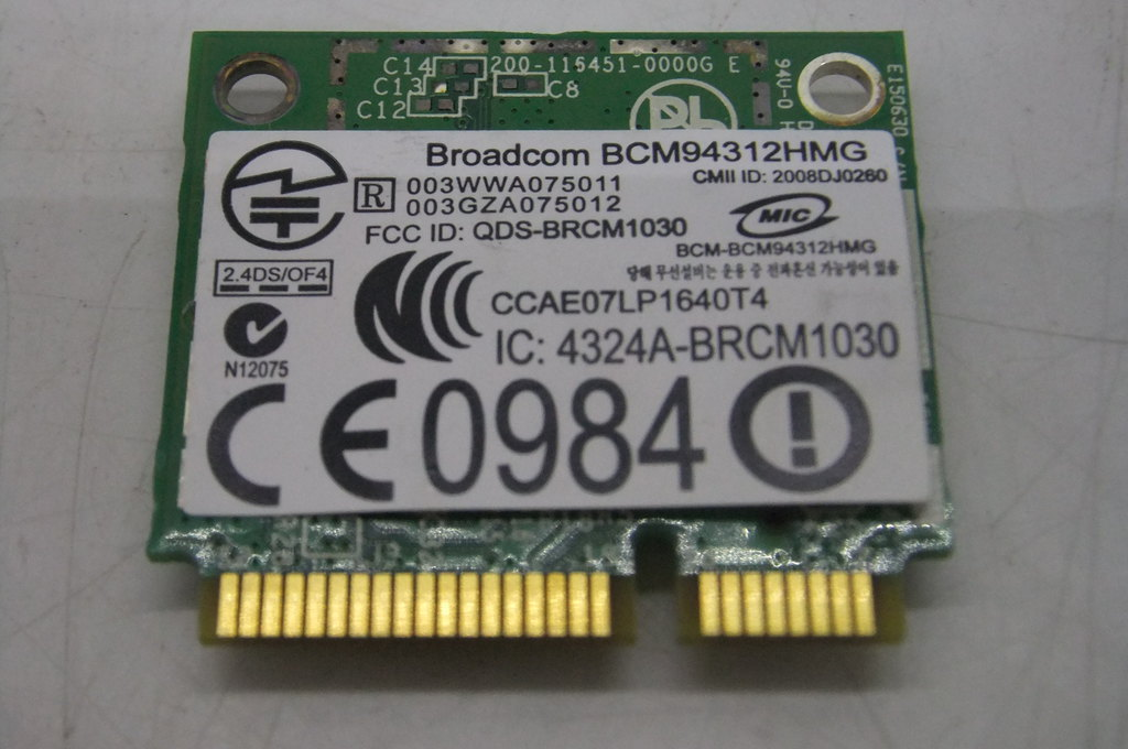 Модуль Wi-Fi mini-PCI-E BroadCom - Pic n 123016
